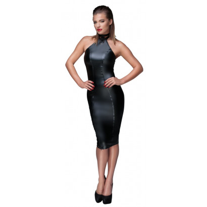 Noir Handmade Powerwetlook Pencil Dress F160