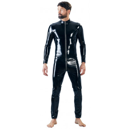 Black Level Vinyl Overall Men