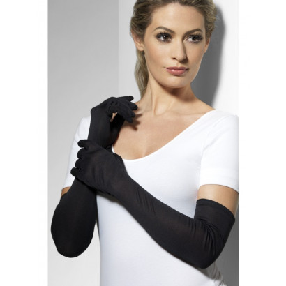 Fever Long Gloves 9363 - Long Black Gloves