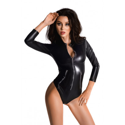 Glossy Wetlook Body Alessia Black