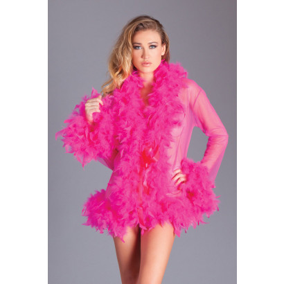 Be Wicked Kimono with Feathers Pink