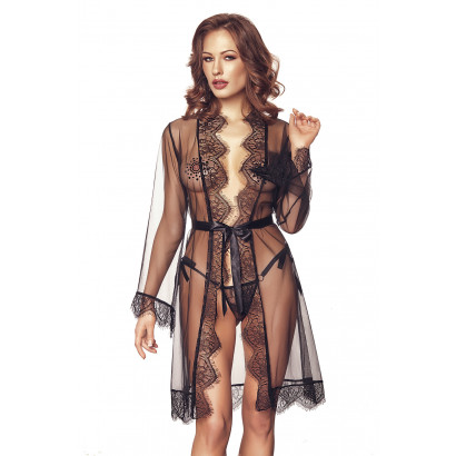 Anais Dita Robe & String Black