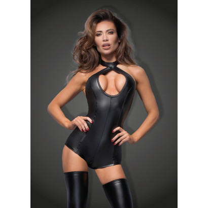 Noir Handmade F169 Short Powerwetlook Body with Lace Cleavage