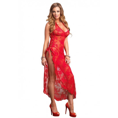 Leg Avenue Long Dress With G-String 88009 Red