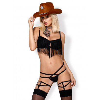 Obsessive 832-CST-1 Cowgirl Costume Black