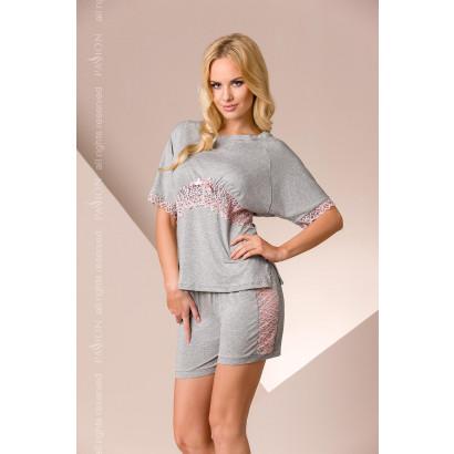 Passion PY008 - Women's Pajamas Gray