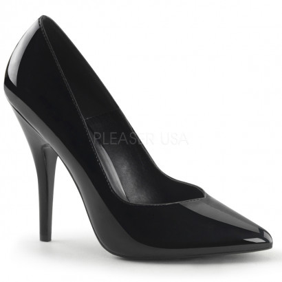 Pleaser Seduce-420V - Women's Sexy Black Patent Pumps