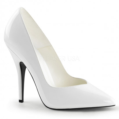 Pleaser Seduce-420V - Women's Sexy Heels White Lacquered