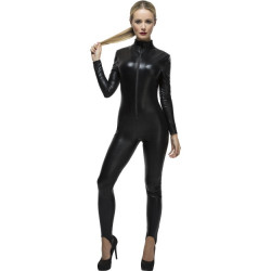 Fever Miss Whiplash Costume 28629 Fekete