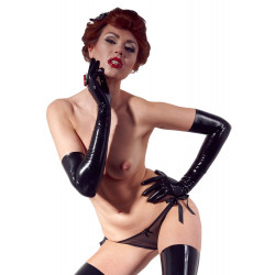 LateX Chlorinated Latex Gloves Black