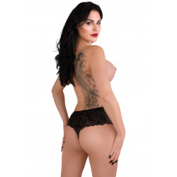 Daring Intimates Ella Crotchless Cheeky Panty Black