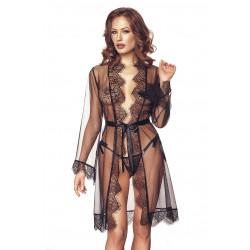 Anais Dita Robe & String Black