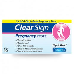 Pasante Clear Sign hCG Dip - Terhességi teszt 3 db