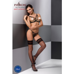 Passion Valery Set with Open Bra Black
