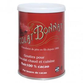 Bonnat Boite Gouttes 100% de Cacao 250g