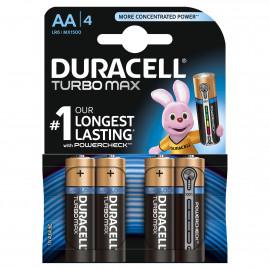 Elem lúgos Duracell Turbo MAX AA Duralock 4 db