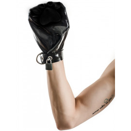 Mister B FETCH Rubber Puppy Mitts Fekete-Fekete