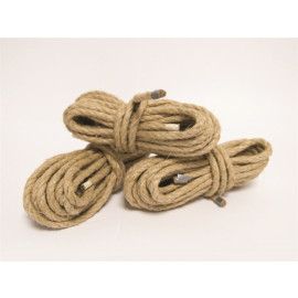 Mister B Bondage Rope Hemp 6m Set of 3 - szett 6m 3 db