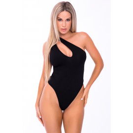 Pink Lipstick Off The Wall Seamless Bodysuit Black