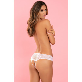 René Rofé All Tied Up Open Back Panty White
