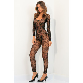 René Rofé Body Up Crotchless Bodystocking Black