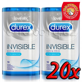 Durex Invisible Extra Sensitive 20 db