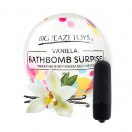 Big Teaze Toys Bath Bomb Surprise with Vibrating Body Massager Vanilla