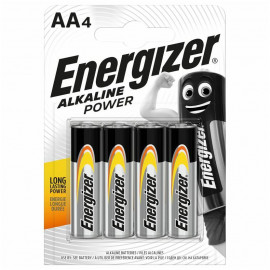 Energizer Alkaline Power Battery AA 4 pack