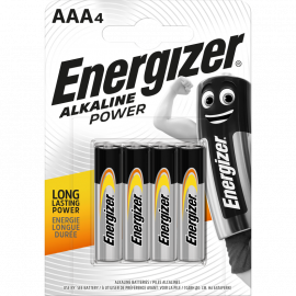 Energizer Alkaline Power Battery AAA 4 pack