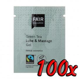 Fair Squared Lube & Massage Gel Green Tea 3ml 100 pack