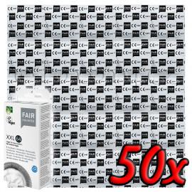 Fair Squared XXL 64 Fair Trade Vegan Condoms 50 pack