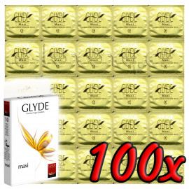 Glyde Maxi - Premium Vegan Condoms 100 pack