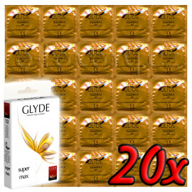 Glyde Super Max - Premium Vegan Condoms 20 pack