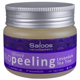 Saloos Bio testszínű peeling - Levendula-Teafa 140ml