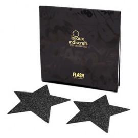 Bijoux Indiscrets Flash Star Fekete - Mellbimbó dísz