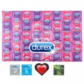 Csomag Durex High Pleasure - 42 óvszer + 2x síkosító Pasante