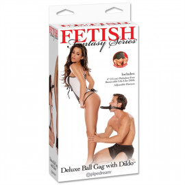 Fetish Fantasy Deluxe Ball Gag with Dildo - Pecek és dildó