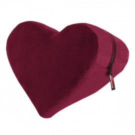 Liberator Heart Wedge Merlot - Erotikus alátét szív alakú Piros