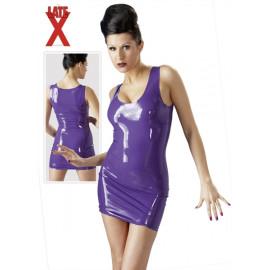 LateX Mini Dress - Latex mini ruha Lila