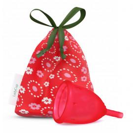 LadyCup L(arge) LUX menstruációs csésze nagy Cseresznye piros 1db