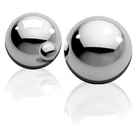 Ouch! Medium Weight Ben-Wa-Balls Silver
