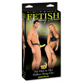 Fetish Fantasy For Him or Her Hollow Strap-On Glow In The Dark