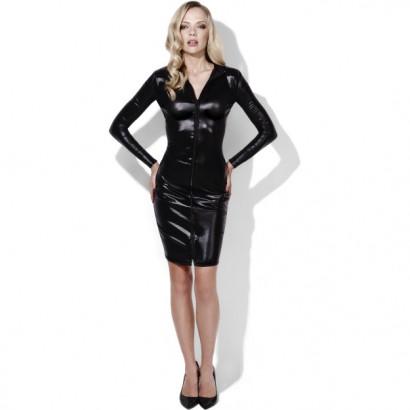 Fever Whiplash Pencil Dress 43836 Fekete