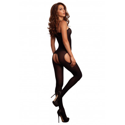 Leg Avenue Suspender Bodystocking 8195 Fekete