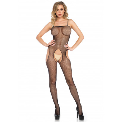 Leg Avenue Suspender Bodystocking 8672 Black