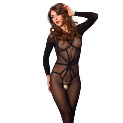 Leg Avenue Opaque Illusion Bodystocking 89151 Black