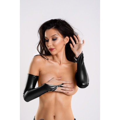 Glossy Fingerless Wetlook Gloves