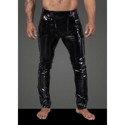 Noir Handmade H060 Men's Long Pants Made of Elastic PVC