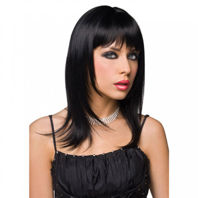 Pleasure Wigs Steph Wig Black - paróka