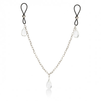 California Exotics Nonpiercing Nipple Chain Jewelry Crystal - Mellbimbó dísz
